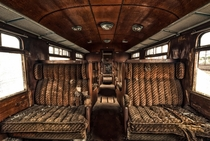 First class Inside view of abandoned parked orient express By MMGrafix
