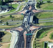 First ever diverging diamond interchange in the US Springfield MO