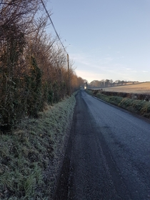 First frost in northern Ireland
