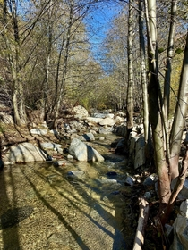First hike of  This part of the Arroyo Seco Canyon is less than two miles from the Rose Bowl Lots of traffic in one direction but I chose the path less traveled  x