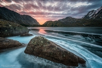 First ices in Nusfjord Lofoten Norway  Photo by Stian Klo xpost from rNorwayPics