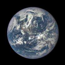 First image from the Deep Space Climate Observatory Satellite DSCOVR  million miles from Earth at Lagrange point  - NASA