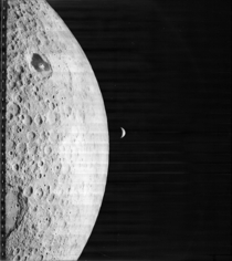 First image of an Earth rise