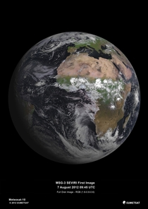 First image of Earth created using data from satellite MSG-