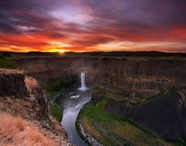 First Light at Palouse Falls Washington State