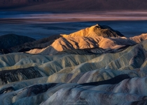 First light at Zabriskie Point in Death Valley National Park California