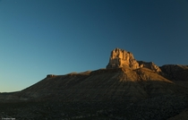 First light hits the peak of El Capitan Guadalupe Mountains National Park Texas x