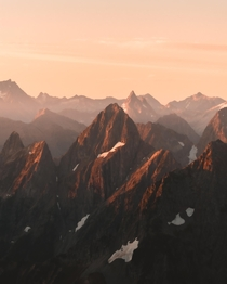 First light in the North Cascades National Park USA