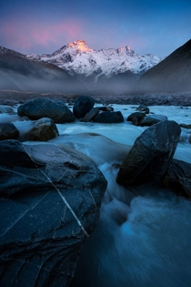 First light on Mt Sefton New Zealand OC x williampatino_photography