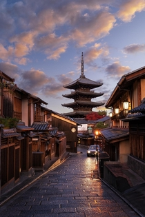 First light on streets of Kyoto  theurbanvoyager