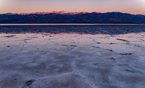 First light on Telescope Peak and Badwater Bassin Death Valley