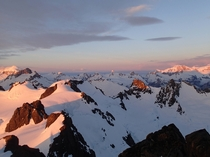 First light on the Patagonian Andes