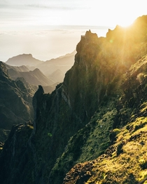 First light over Mordor Pico do Arieiro Madeira Portugal