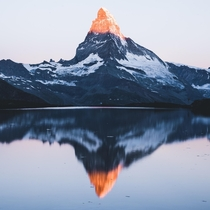 First light touching the Matterhorn - Switzerland