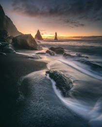 First on the scene Reynisfjara Iceland