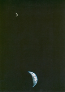 First Picture ever taken of the Earth and Moon in a Single Frame