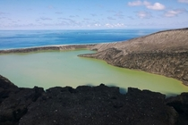 First pictures of Tongas newly-formed volcanic island photo by GP Orbassano  X