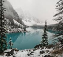 First Snow At Moraine Lake AB This Morning