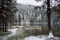 First snow of the season at Hoffer Lake Oregon
