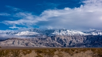 First Snow of the Season for the Panamint Mountains Inyo County California USA