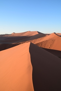 First sunlight at Dune  Sossusvlei Namibia  x