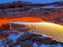 First sunrise of  - Mesa Arch - Canyonlands Utah