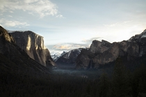 First sunrise of the next decade at Yosemite