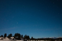 First time attempting astrophotography at nightfall in Pagosa Springs CO