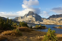 First time backpacking last week This was our campground the nd night Thousand Island Lake Ansel Adams Wilderness