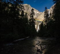 First time chasing Moonbow over Yosemite Falls was a success Yosemite National Park