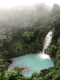 First time in Costa Rica - hiking Ro Celeste