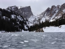 First Time out West did not disappoint Standing on Dream Lake Rocky Mountain National Park