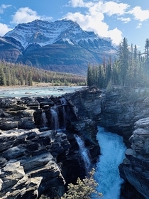 First trip to the amazing Alberta Athabasca Falls Alberta