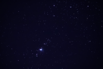 First try at Orion neb with single pic taken with Ti mm Zoom and  sec exposure this morn at am in Clearwater FL