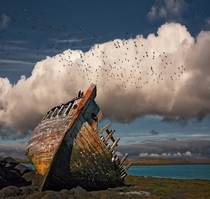 Fish boats final resting place in Iceland  photo by orsteinn H Ingibergsson