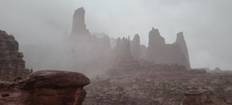 Fisher Towers Utah Before Yesterdays Storm