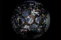 Fisheye photograph of the ISS Cupola Module - almost like a real-world TIE Fighter cockpit  Credit ESANASA