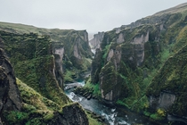 Fjarrgljfur a canyon in south east Iceland  Photographed by Jonathan Percy