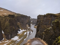 Fjarrgljfur Canyon - winter Iceland February