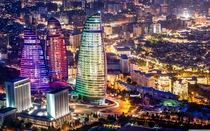 Flame Towers in Baku Azerbaijan Designed by HOK