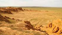 Flaming cliffs in Southern Mongolia