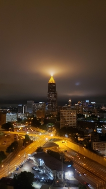 Flashlight for the sky View from the Atlanta Hilton