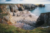 Flimston Bay Not Flimstone Important difference Pembrokeshire Coast South Wales UK
