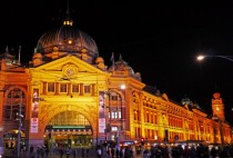 Flinders Street Station at night Melbourne
