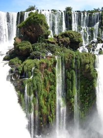 Floating Island at Iguazu Falls in Paraguay Photo by Andrew Murray