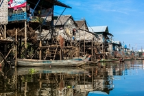 Floating village Siem Reap Province Cambodia