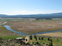 Flood irrigation in the Sprague River Valley Oregon