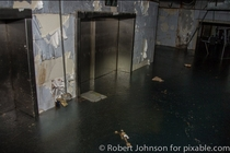 Flooded amp Frozen Basement In An Abandoned Detroit Hospital - Detroit MI - Photo By Robert Johnson