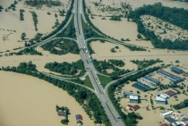 Flooded Autobahnkreuz A and A