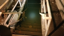 Flooded basement in abandoned Brewery   x